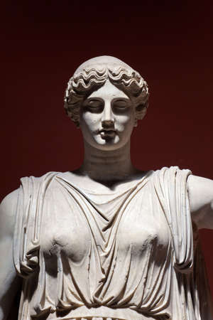 rarity: Colossal Statue of Ceres, Vatican Museums, Rome, Italy. Detail