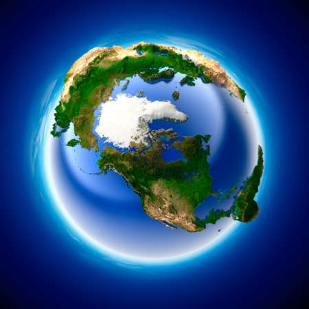The metaphor of ecology and purity of the planet Earth Stock Photo - 7302788