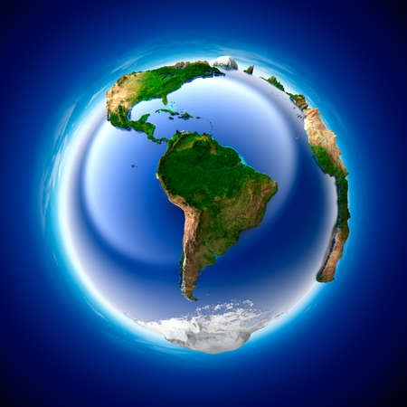 The metaphor of ecology and purity of the planet Earth Stock Photo - 7302789