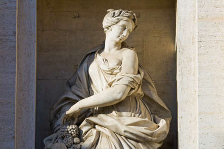 Fragment of a fountain of Trevi. Rome, Italy photo