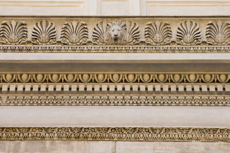 friso: Fragmento de socorro ornamentado. Roma, Italia  Foto de archivo