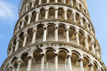The Leaning Tower of Pisa (Italian: Torre pendente di Pisa) or simply The Tower of Pisa (La Torre di Pisa) is the campanile, or freestanding bell tower, of the cathedral of the Italian city of Pisa. It is situated behind the Cathedral and is the third old photo
