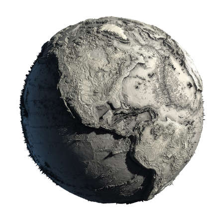 Dead Planet Earth without water - the global ecological catastrophe, a fantastic assumption of the future photo