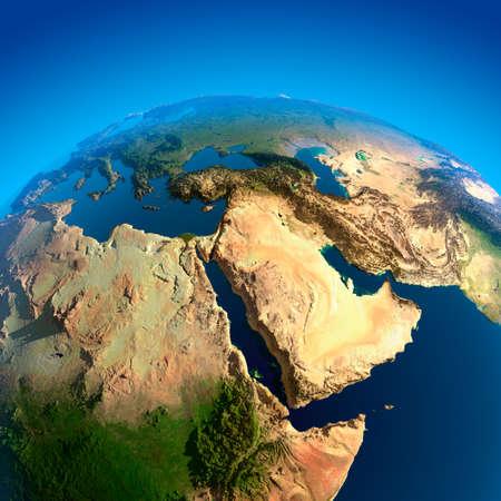 Ägypten, Sudan, Äthiopien, Somalia, Saudi-Arabien und anderen Ländern des Nahen Ostens. Der Blick aus der Satelliten