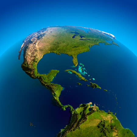 körfez: Mexico, Guatemala, Honduras, Nicaragua, Costa Rica, Panama, Colombia, Cuba and other Caribbean countries. The view from the satellites