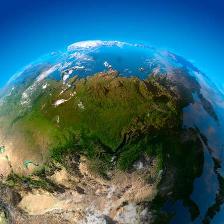 far east: Asia - Rusia, Lejano Oriente, Siberia, China. La vista de los sat�lites