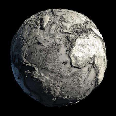 Muertos de planeta de tierra, sin agua, la catástrofe ecológica mundial, una hipótesis fantástica del futuro  Foto de archivo