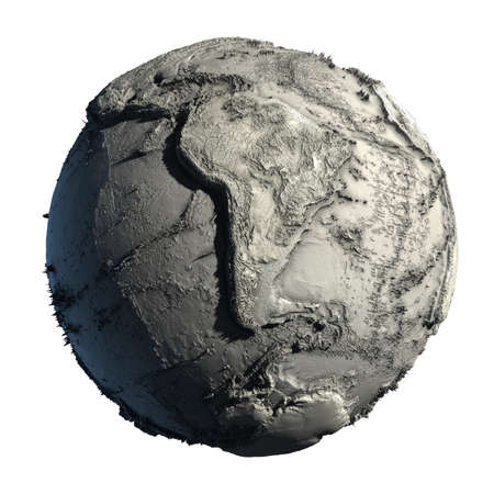 Dead Planet Earth without water - the global ecological catastrophe, a fantastic assumption of the future