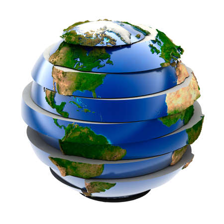 geodesy: Planet Earth - a puzzle that is assembled from parts