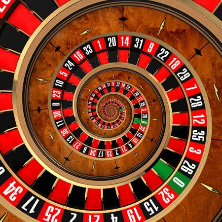 roulette: Il concetto di gioco d'azzardo alla roulette, che coprono un giocatore in un vortice a spirale