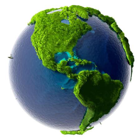 recursos naturales: Tierra con un mar transparente puro está completamente cubierto de hierba verde - un símbolo de un medio ambiente limpio, rico en recursos naturales y las buenas condiciones ambientales