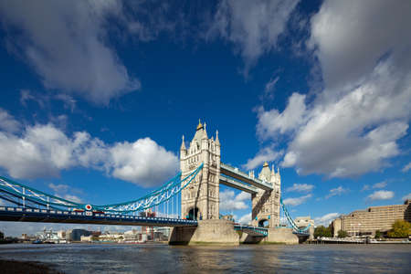 thames: The famous Tower Bridge in London, UK