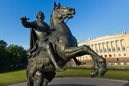 saint petersburg: Symbol of St. Petersburg - a monument to the founder of the capital of the Russian Empire, Emperor Peter the Great - The Bronze Horseman.  Editorial