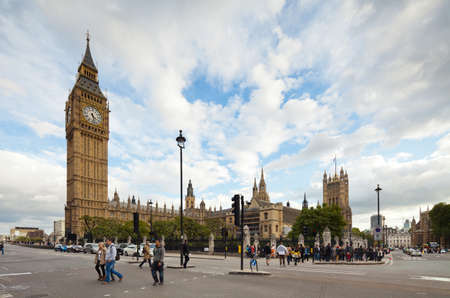 owes: LONDON - OCTOBER 14: the Palace of Westminster owes its stunning Gothic architecture to the 19th-century architect Sir Charles Barry. Photograph taken with the tilt-shift lens, vertical lines of architecture preserved. 2012