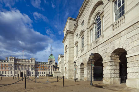 historical building: Ministry of Defence, Admiralty House, Household Cavalry Museum, Horse Guards Parade.  Westminster, London, England, UK