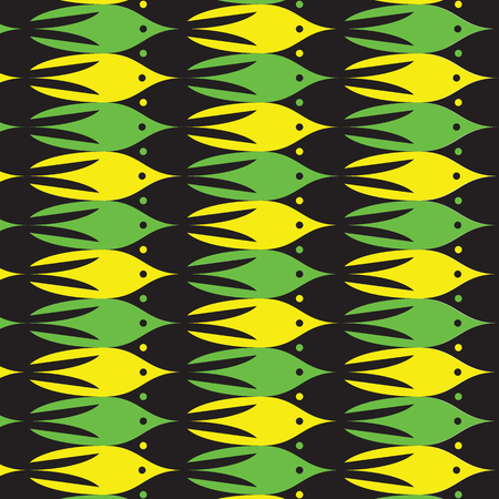 tessellation: Marine tessellation background. Overflowing of one object to another. Vector illustration