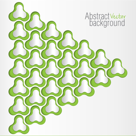 3 dimensional: Vector Abstract 3 Dimensional objects Design on green background Illustration