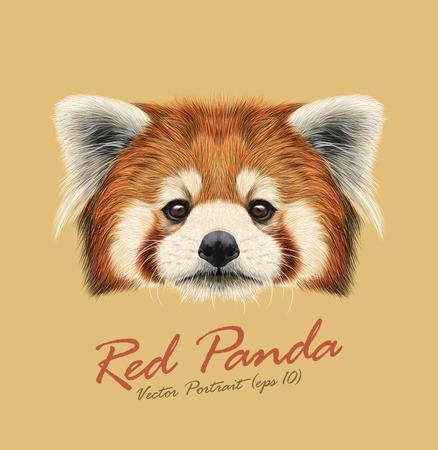 Schattig gezicht van Red Panda op natuurlijke achtergrond