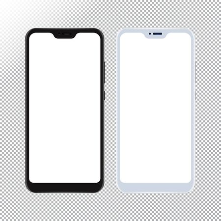 Smartphone mock up on transparent