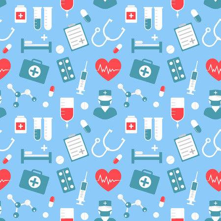 Medical vector pattern for your website, business cards, brochures.