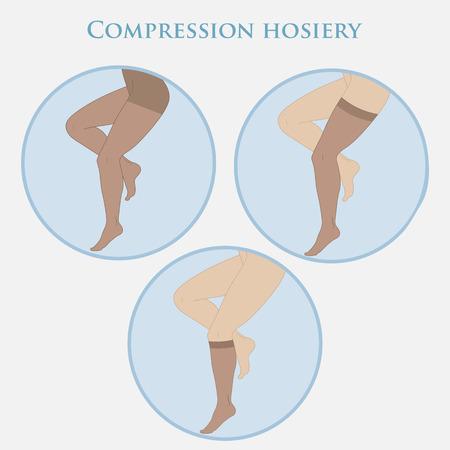 las medias de compresión médica para mujeres delgadas pies, medias, pantimedias, calcetines.