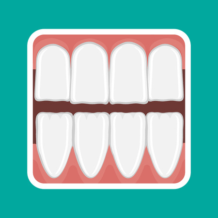 incisor: icon incisor teeth and gums of the lower and upper jaw.