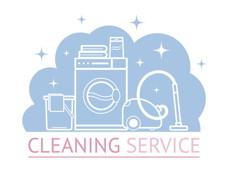 ironing: Vector objects laundry and housekeeping. Dry cleaning. Illustration