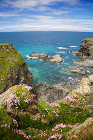Cliffs and coastline around Padstow in Cornwall, UK. Stock Photo - 17938432