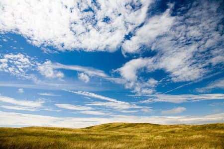 large bright cloud filled sky and open pasture in Cumbria, England, UK Stock Photo - 17937653