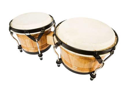 bongos: Bongos isolated on white background with clipping path Stock Photo