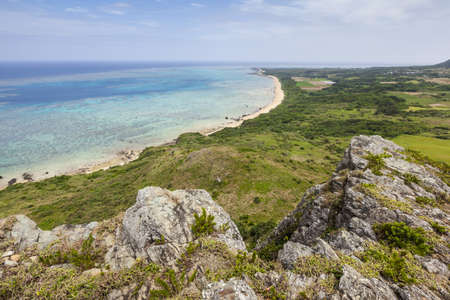 undeveloped: General view of the coastline at Cape Hirakubo-saki on Ishigaki Island in Okinawa Prefecture, Japan
