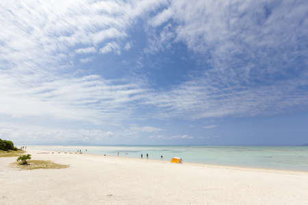 Kondoi beach on Taketomi Island in Okinawa Prefecture, Japan  Stock Photo