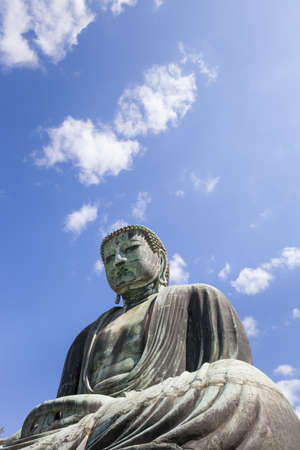 kanagawa: Kamakura, Japan- May 23, 2012  The Daibutsu Great Buddha at Kotoku-in temple in Kamakura, Kanagawa prefecture, Japan  The bronze Buddha dates from the 13th century and is 13 3 metres high  Editorial