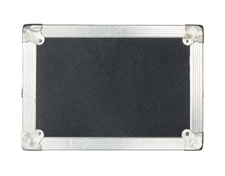 guitar case: Close-up of a Black Flight Case Isolated on a White Background
