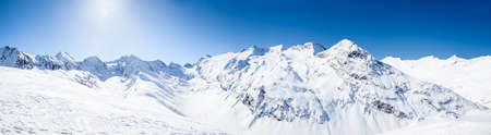 Panoramic View of the Otztal Alps in Austria Stock Photo