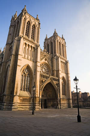 West front of Bristol Cathedral, England, UK Stock Photo