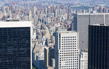 as far as the eye can see: High view point of the Midtown area of New York City with buildings stretching as far as the eye can see
