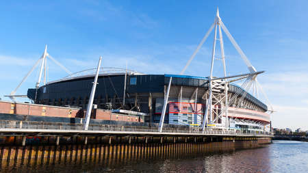 wales: Exterior of the Millenium Stadium in Cardiff, Wales, UK