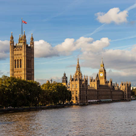 Palace of Westminster and Big Ben in London, England  photo