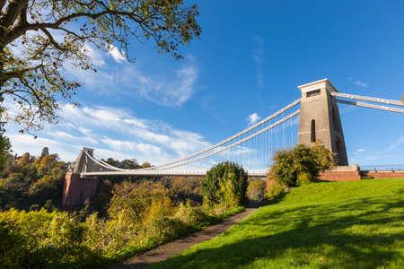 イギリスのブリストルのクリフトン吊橋 写真素材