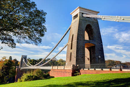 Daytime view of the Clifton Suspension Bridge in Bristol, England Stock Photo - 23904378