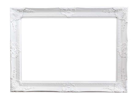 baroque picture frame: Ornate painted picture frame isolated on white