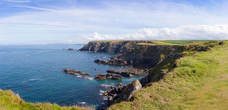 cornish: Panoramic view of Holywell Bay and beach in Cornwall, England, UK.