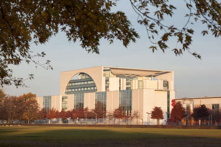 chancellery: Bundeskanzleramt - the German Chancellery building in Berlin, Germany Editorial