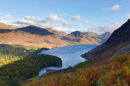 fells: View of Wast Water and surrounding fells from Irton Fell in Wasdale, Cumbria, UK