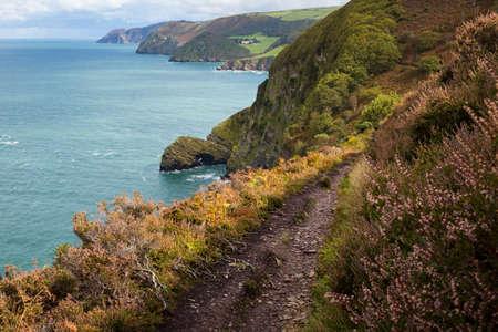 Coastal Path near Martinhoe in Exmoor, England, UK