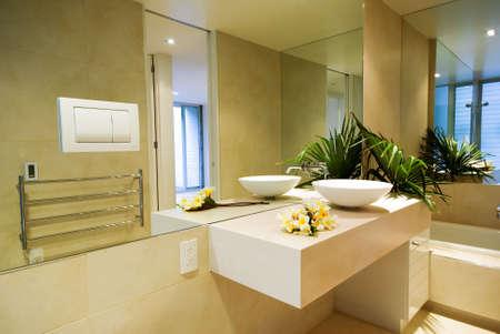 Modern, designer interior bathroom