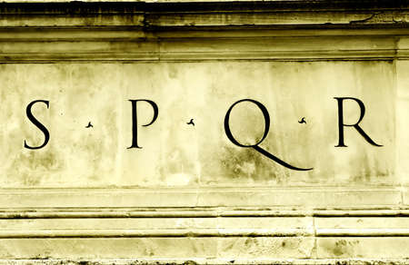 S P Q R - the symbol of the Roman Empire Stock Photo