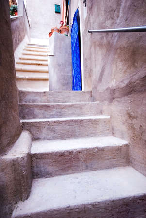 Italian steps leading up to old home... Italy Stock Photo - 2375963