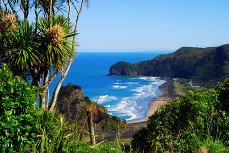 View of a west coast beach in New Zealand Stock Photo